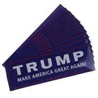 10x/set Donald Trump for President Make America Great Again Bumper Sticker UJG
