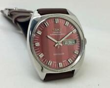 VINTAGE CAMY GENEVE SEA-CLUB SUPER AUTOMATIC RED DIAL MEN SWISS WRIST WATCH