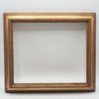"""Vintage 12-3/4""""x13-3/4"""" Painted Gold Picture Frame for 9-1/2""""x11-1/2"""""""