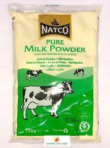 PURE MILK POWDER - WHOLE MILK POWDER - INDIAN SWEETS - LONGLIFE - NATCO - 750g