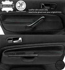 BLACK STITCH 2X FRONT DOOR CARD TRIM COVERS FOR VW GOLF MK4 98-05 5 DOOR STYLE2