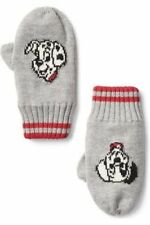 Gap Kids Boys Winter Mittens Gloves S/M Gray Red Disney Dalmatians Cotton New