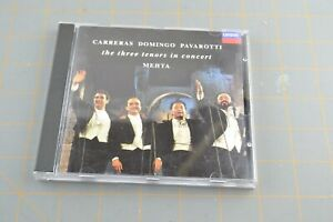Carreras Domingo Pavarotti Three Tenors In Concert MEHTA London CD Compact Disc