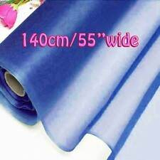 2 Yards Princess Blue Pure Silk Organza Bridal Dress Fabric 140cm W