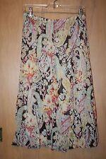 Skirt~Christopher Banks~Sz Small ~Brown Multi Color Print~Mid-Calf Length~Lined