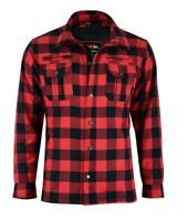 Black Tab Red Motorcycle Shirt FULLY Reinforced Protective Armoured Check Shirt