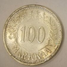 Finland 100 Markkaa 1956 Silver