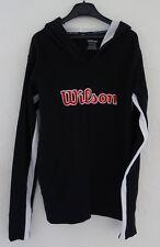 Wilson  Sweat shirt noir à capuche - tennis