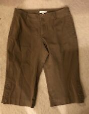 Women's COLDWATER CREEK Brown Stretchy Capris Size P14