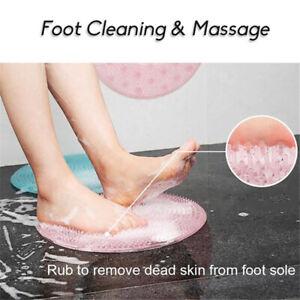 Foot Massage Shower Silicone Exfoliating Scrub Mat Cleaning Massage Kvd OqRnV