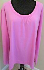 Lee Riders Lilac Purple Stretch Long Sleeve Tunic T-Shirt Size XXL 20 Misses EUC