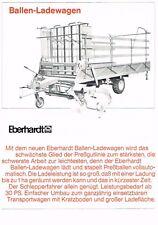 Eberhardt Ballen- Ladewagen, orig. Prospekt 1967
