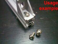 Aluminum T-slot 2020 profile socket button bolt screw M5x10mm, 24-set