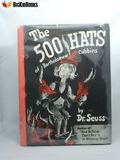 The 500 Hats Of Bartholomew Cubbins Dr. Seuss 1938 Early Print Dust Jacket Book