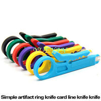 6 PCS 6 Color Network Lan Wire Cable Punch Down Cutter Stripper UTP for RJ45