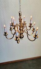 1//12 Dolls House Light 12 ARM CHANDELIER /'ELITE RANGE/' LT8002 Gold