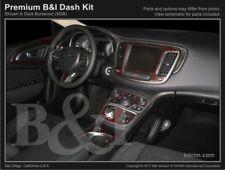 Dash Trim Kit for CHRYSLER 200 15 16 17 carbon fiber wood aluminum