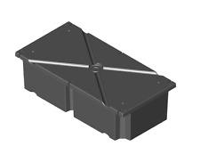 "Boat Dock System Float Drum, Water Dock Flotation Drums, Floats 24"" x 48"" x 12"""