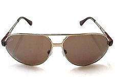 Brand New Tod's TO 0013 Gold/Brown 34J Aviator Designer Sunglasses