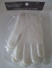 Vtg Lee Begman Magic Expansion Gloves Ladies package white 80s HTF stretch retro