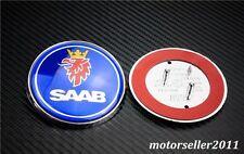 """2.67"""" 68mm Blue Front Hood Emblem Badge Decal For 9-3 93 9-5"""