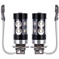 2x H3 Xenon White 100W High Power Cree SMD Car LED Bulb Fog Driving Light Lamp