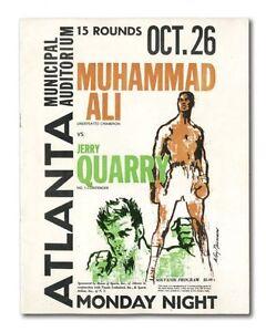 RARE! 1970 Muhammad Ali vs. Jerry Quarry On-Site Boxing Program, Unscored