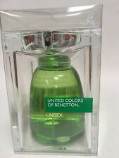 QTY 2 UNITED COLORS OF BENETTON UNISEX COLOGNE EDT SPRAY 2.5 OZ EACH NEW IN BOX