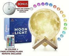 "5.9"" 3D Printing Moon Lamp Moonlight USB LED Night Lunar Light Touch Colors 15cm"