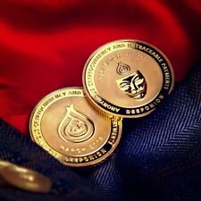 DeepOnion Coin Gold Plated 22K - Limited 1500 - Crypto like Bitcoin, Casascius