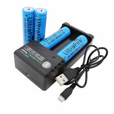 4pcs 18650 Battery 3800mAh 3.7V Rechargeable Li-ion For Flashlight + USB Charger