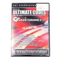 Ultimate Codes GT Gran Turismo 3 For PlayStation 2 PS2 No Manual