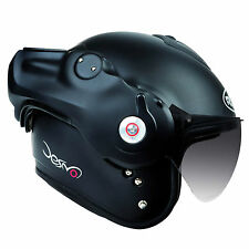ROOF DESMO MATT BLACK CLASSIC URBAN INNER CITY PILOT WINGS HELMET