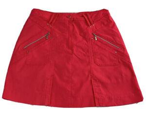 JAMIE SADDOCK Skirt Skort Size Mini Length HOT PINK Pockets Zippers