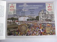 """Vatikan Numisbrief 2 Euro 2011 + Briefmarken 75 + 80 Cent """"Weltjugendtag Madrid"""""""
