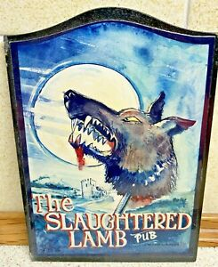 American Werewolf In London - The Slaughtered Lamb Vintage Pub Sign 17cm x 12cm