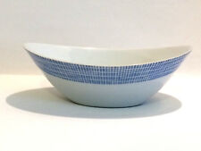 Arzberg Form 2000 Schüssel Schale Oval Bastdekor blau 50er Löffelhardt