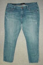 Lucky Brand The Weekender Crop Jeans 16W Women's Skinny Blue Denim E02