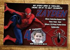 SPIDERMAN Invitation Birthday Party Invite YOU PRINT digital file SUPERHERO