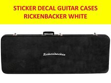 RICKENBACKE STICKER GUITAR CASES WHITE VISIT OUR NEW STORE CUSTOM GUITAR BASS