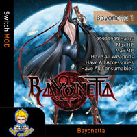 Bayonetta (Switch Mod)- Max Halos/HP/MP/Weapons/Accessories/Consumables
