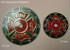 "Plastic / Epoxy - 4"" Inch Fire Department Emblem - Clock Dials"