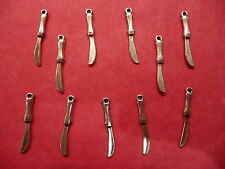 Tibetan Silver Knife Charms  10 per pack