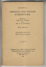 3 1930s AUCTION CATALOGS - FURNITURE GLASS- AMERICAN ART ASSOCIATION ANDERSON G.