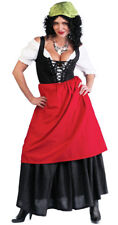 Tavern Wench GYPSY Costume Shirt Skirt Apron Adult Lady Large 12 14 Renaissance