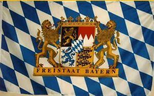 Fahne Flagge BAYERN FREISTAAT 1,5 Meter x 0,9 mit Oesen Neu Blau Weiss #277