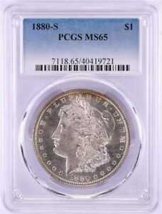 1880-S MORGAN SILVER DOLLAR PCGS MS 65 - PCGS 40419721 - PREMIUM COIN