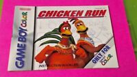 Chicken Run - Nintendo Game Boy Color Instruction MANUAL ONLY No Game