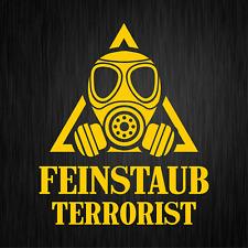 Feinstaub Terrorist Diesel-Fahrverbot Fun Gelb Vinyl Decal Sticker Aufkleber