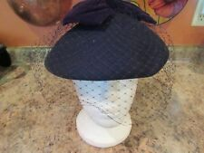 VINTAGE WOOL HAT WITH NETTED FACE